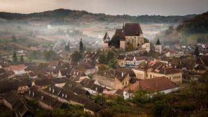 village of biertan transylvania romania