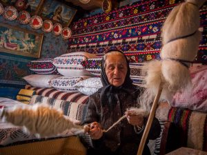 Traditional Crafts and Occupations - Spinning wool