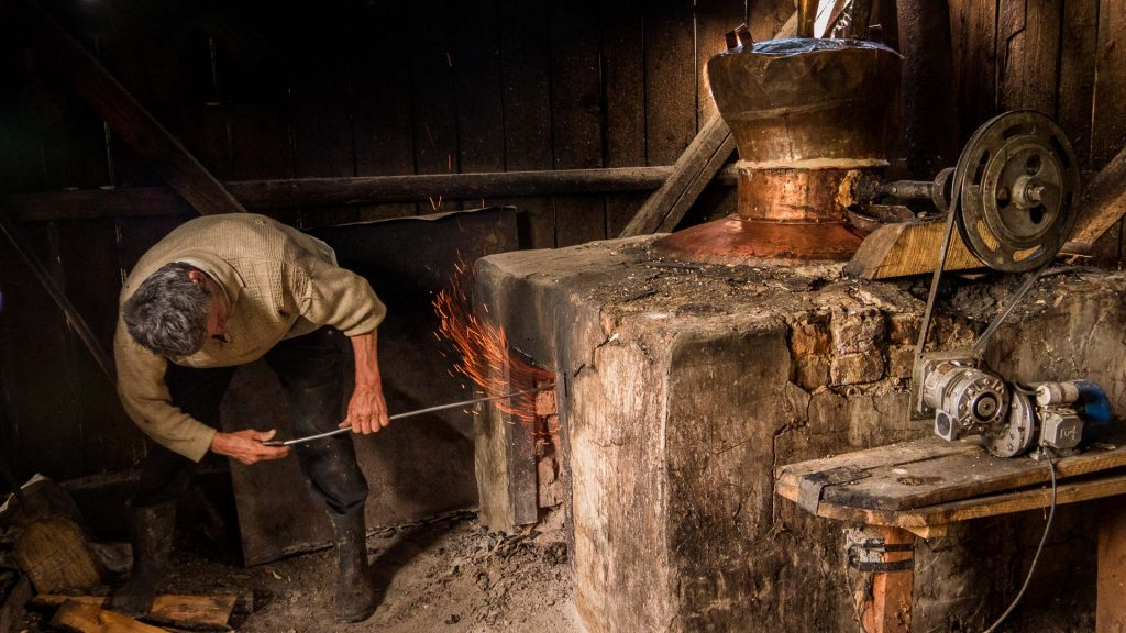 Making Horinca in Maramures