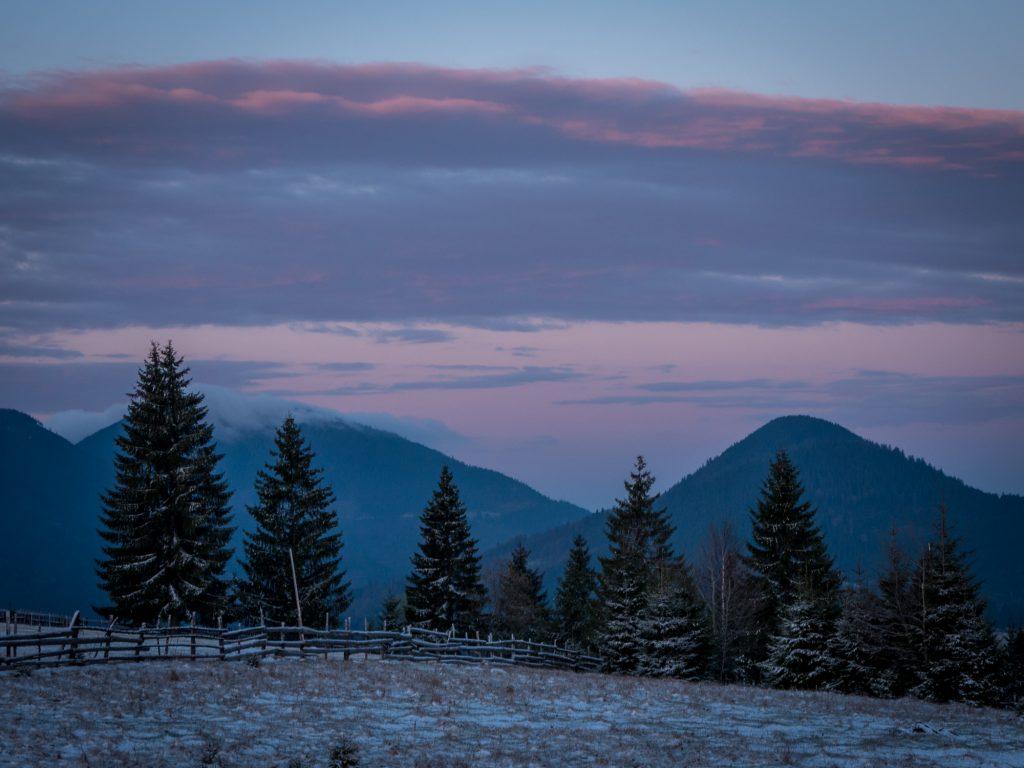 Bucovina winter landscape