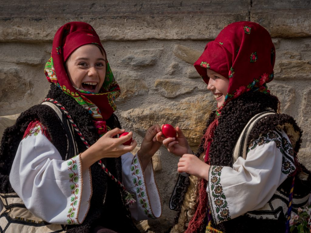 Painted eggs in Bucovina