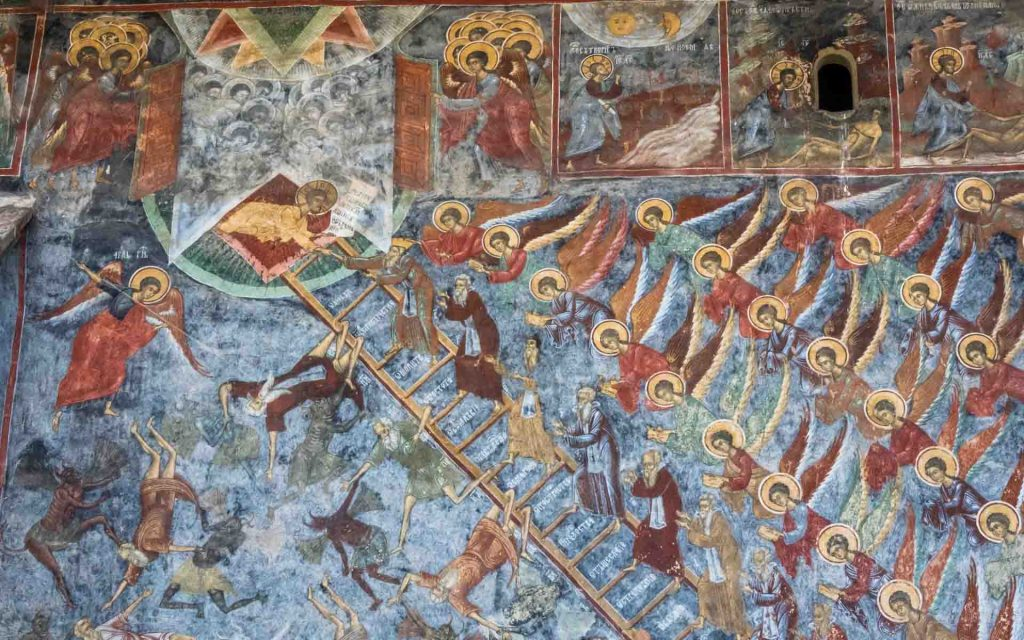 The Painted Monasteries of Bucovina - Mural painting at the Sucevita Monastery