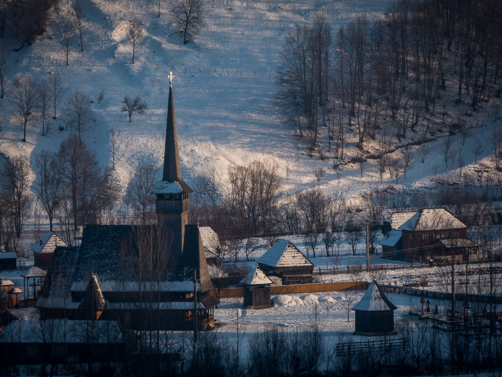 Wooden Churches from Maramures in winter
