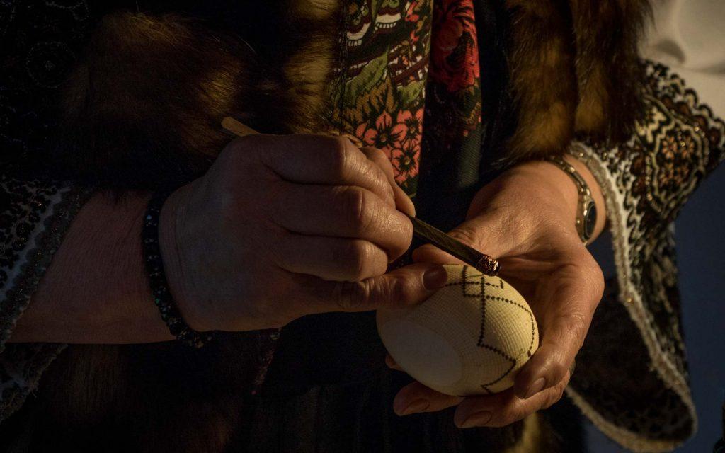Workshop of painting eggs