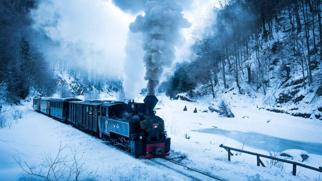Mocanita in winter
