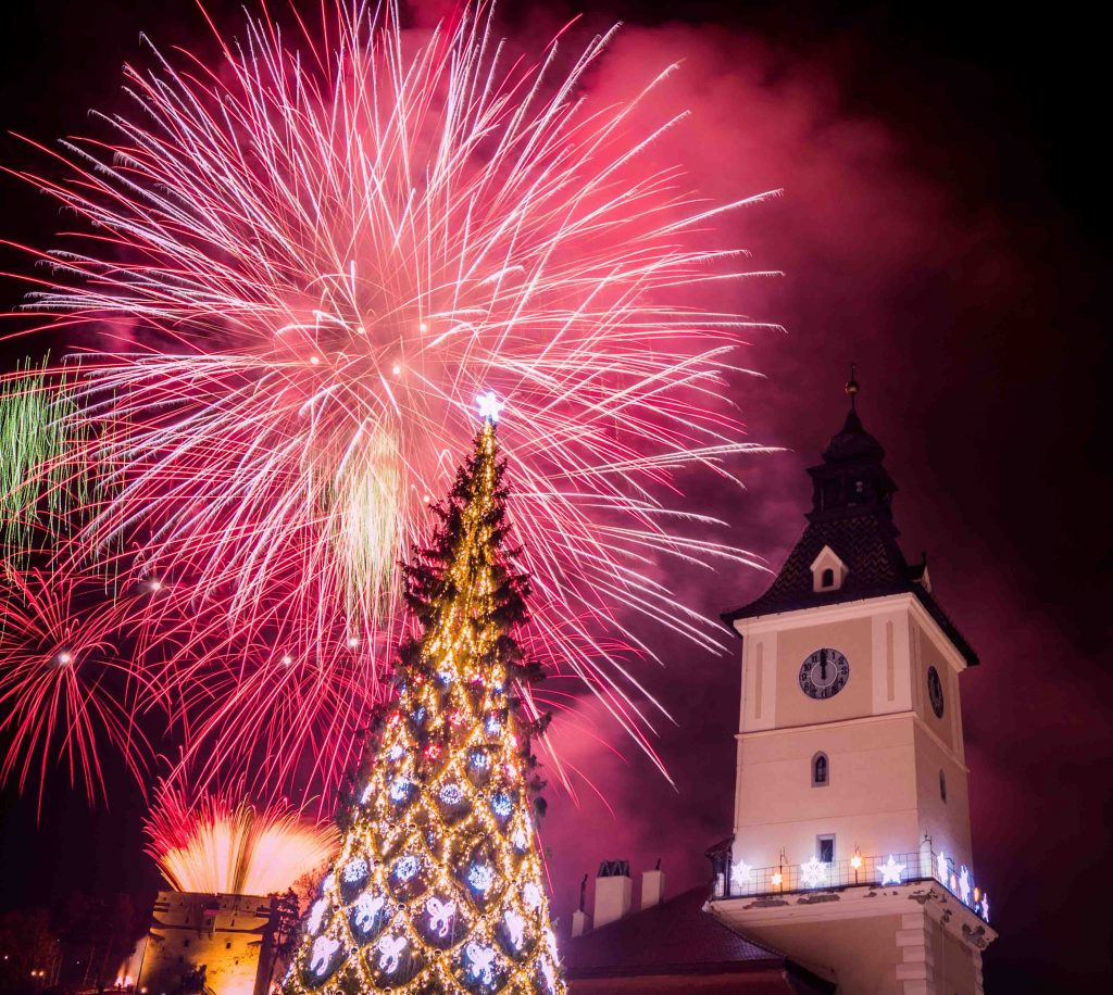 Brasov on new year's eve