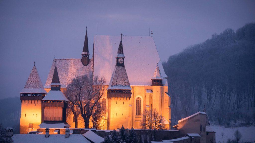 Winter in Romania - Biertan