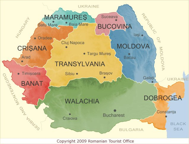 Map of Romania - 2018