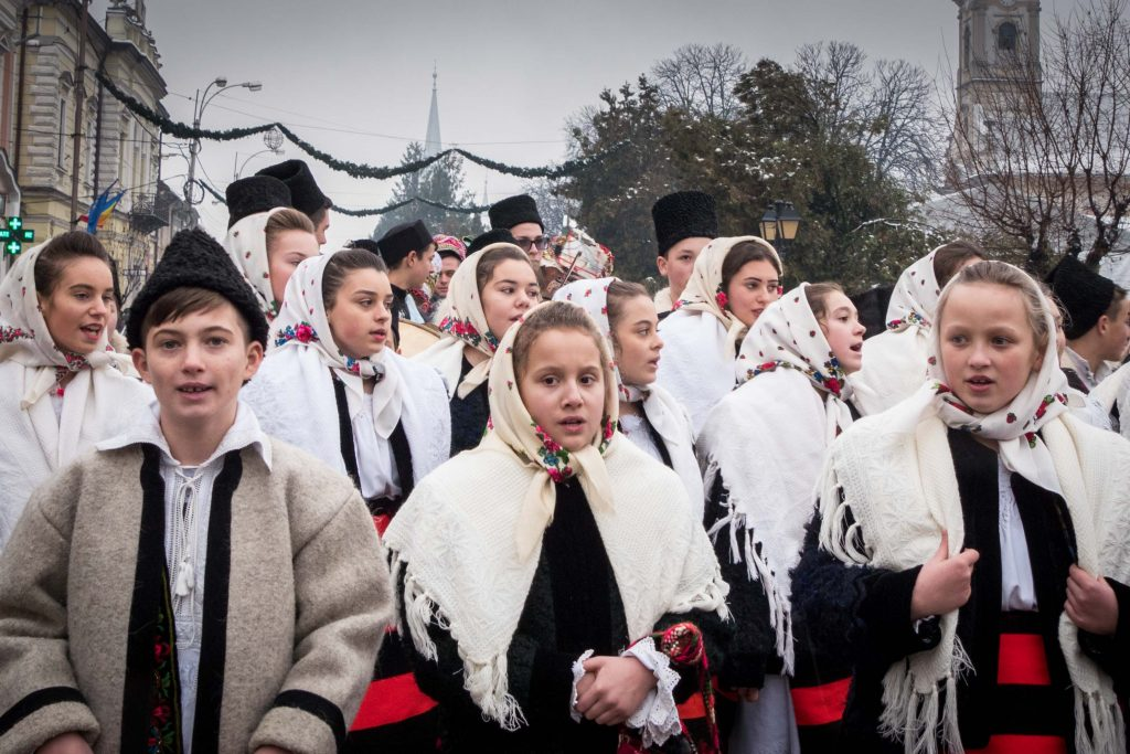 Carolers in Romania