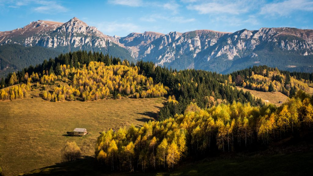 Fall landscape in Romania
