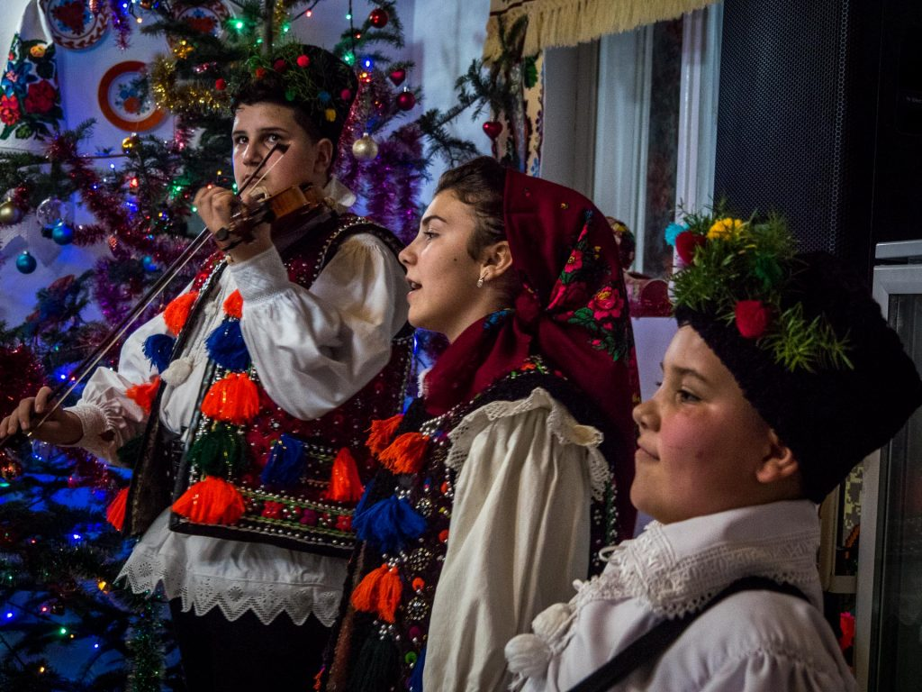 Carolers in Maramures, Northern Romania