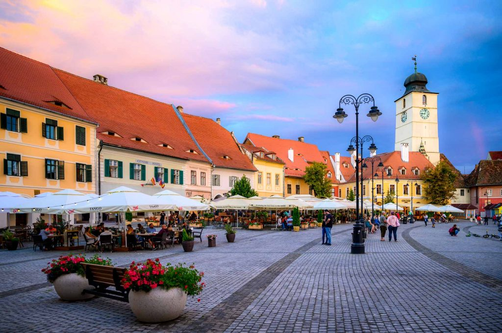 Beautiful Sibiu Old Town